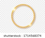 golden round frame with shadows ... | Shutterstock .eps vector #1714568374
