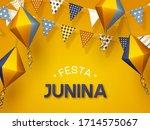 festa junina holiday banner.... | Shutterstock .eps vector #1714575067