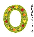 Alphabet From Fruit Isolated O...