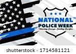 national police week.... | Shutterstock .eps vector #1714581121
