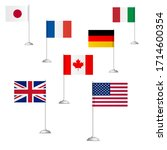 flags of the countries of the... | Shutterstock . vector #1714600354