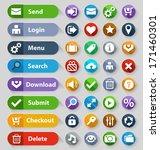 web design buttons set. vector... | Shutterstock .eps vector #171460301