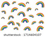 rainbow vector pattern on a... | Shutterstock .eps vector #1714604107
