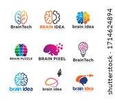 brain idea logo design vector | Shutterstock .eps vector #1714624894