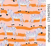 zebras  animal  cute  fashion... | Shutterstock .eps vector #1714639501