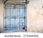 Old  Weathered Blue Wooden...