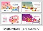 website design template for... | Shutterstock .eps vector #1714664077