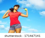 young pretty mixed race female... | Shutterstock . vector #171467141