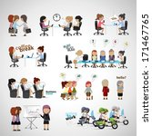 business women   isolated on... | Shutterstock .eps vector #171467765