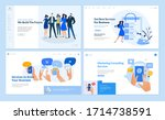 set of flat design web page... | Shutterstock .eps vector #1714738591