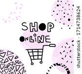 shop online vector stock... | Shutterstock .eps vector #1714738624