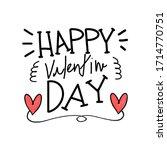 happy valentines day typography ... | Shutterstock .eps vector #1714770751