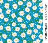 white daisies seamless vector... | Shutterstock .eps vector #1714774234