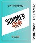 summer sale on banner or poster | Shutterstock .eps vector #1714785064