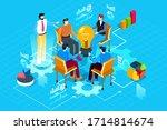 teamwork with new creative...   Shutterstock .eps vector #1714814674