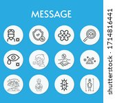 message line icon set on theme... | Shutterstock .eps vector #1714816441