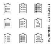 clipboard icon. checklist sign... | Shutterstock .eps vector #1714818871