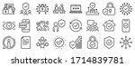 cyber lock  password  unlock.... | Shutterstock .eps vector #1714839781