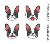 Set Of Boston Terrier Dog Faces ...