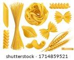 Pasta 3d Realistic Vector...