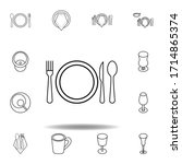 dish  fork  knife  spoon icon....