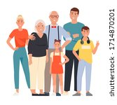 happy family. father  mother ... | Shutterstock .eps vector #1714870201