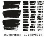 flat paint brush thin lines  ... | Shutterstock .eps vector #1714895314