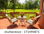 Backyard Deck Overlooking Lake...