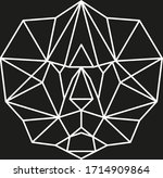 geometric animal  modern... | Shutterstock .eps vector #1714909864