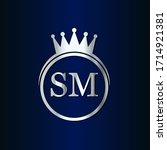 sm crown logo initial letter...   Shutterstock .eps vector #1714921381