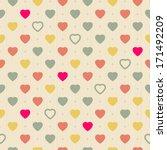 vintage retro seamless pattern... | Shutterstock .eps vector #171492209