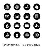 finance icon set  money sign...