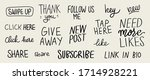vector set of hand lettering...   Shutterstock .eps vector #1714928221