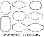 art frame collection. vintage... | Shutterstock .eps vector #1714930357