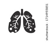 damaged lungs flat icon  vector ... | Shutterstock .eps vector #1714955851