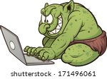 Fat Internet Troll Using A...