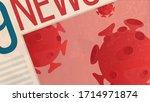 close up generic newspaper ... | Shutterstock .eps vector #1714971874