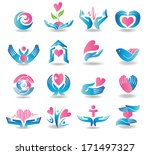 various colorful health care... | Shutterstock .eps vector #171497327
