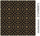 arabic pattern seamless... | Shutterstock .eps vector #1714980871