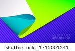 abstract neon material design... | Shutterstock .eps vector #1715001241