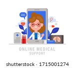 online medical support concept... | Shutterstock .eps vector #1715001274