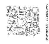 travel and vacation hand drawn...   Shutterstock .eps vector #1715013997