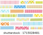 collection of plaid washi tape... | Shutterstock .eps vector #1715028481