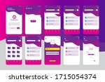 modern sleek purple storage app ...