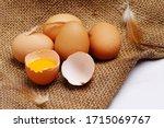 Brown Chicken Eggs In Egg...