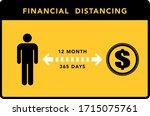 financial distancing banner.... | Shutterstock .eps vector #1715075761