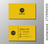 black and yellow business card...   Shutterstock .eps vector #1715096524