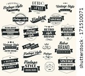 collection of vintage retro... | Shutterstock .eps vector #171510071