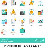 fintech icons including profit  ... | Shutterstock .eps vector #1715112367