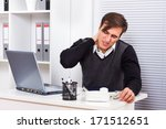 businessman having pain in his... | Shutterstock . vector #171512651
